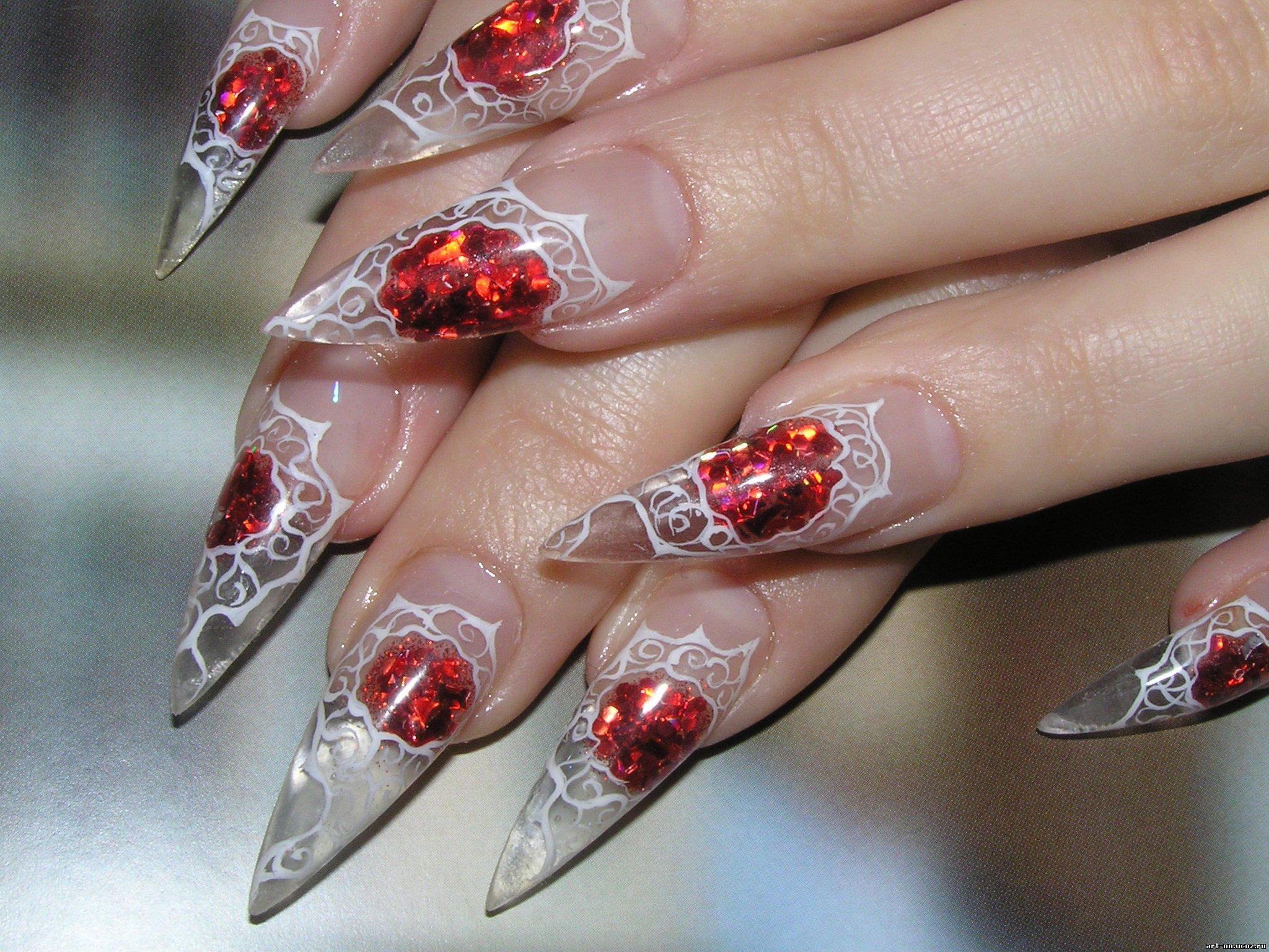 Аквариум дизайн ногтей видео