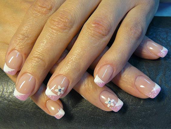 простые рисунки на коротких ногтях фото