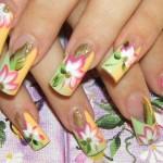 рисунки акриловыми красками на ногтях