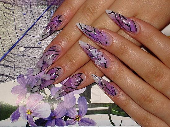 Наращиванье ногтей рисунки