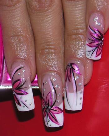 рисунки на нарощенных ногтях: