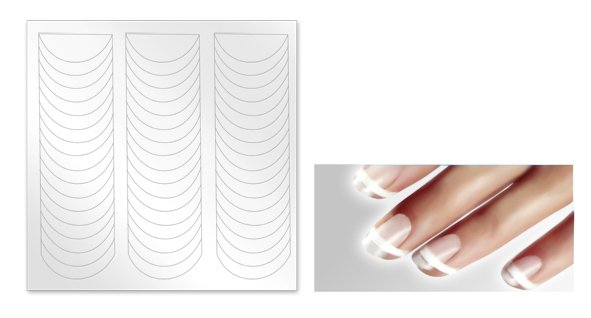 Как сделать трафареты для ногтей своими руками фото