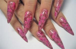 Нежные цветы на ваших ногтях