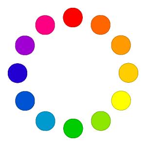 """Используйте """"Цветовой круг"""" для подбора интересных сочетаний лака основы и трескающегося лака"""
