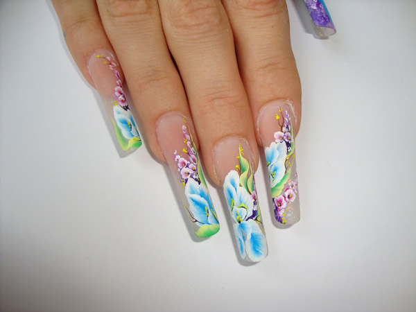 дизайн ногтей китайская роспись видео: