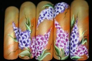 """""""Гохуа"""" на женских ногтях"""