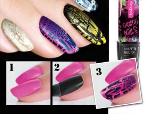 Если вам надоел обычный дизайн ногтей, попробуйте новинку - растрескивающийся лак для ногтей
