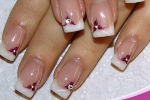 рисунки на коротких ногтях: