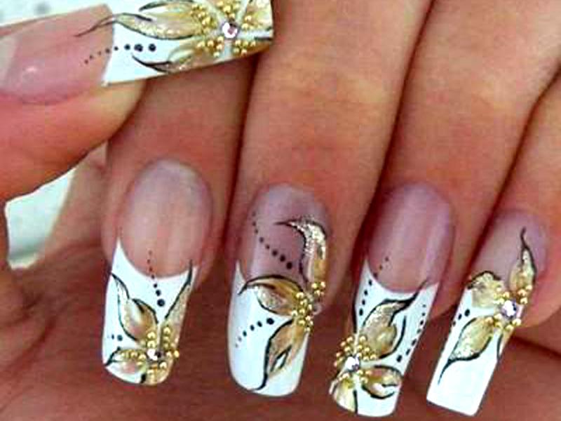 Роспись простая роспись на ногтях