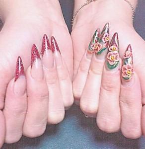 Дизайн акриловых ногтей