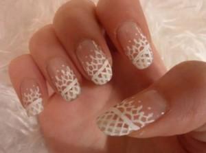 """Дизайн ногтей """"Белое кружево"""""""