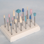 Насадки используются в зависимости от грубости кожи и зоны вокруг ногтевой пластины